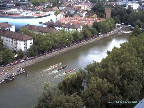Drachenboot Rennen auf dem Neckar 2009